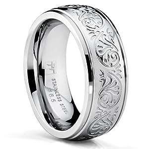 Wedding Ring Engraved Design