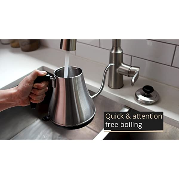 Gooseneck Electric Kettle with Temperature Control & Presets - 1L, Stainless Steel - Tea & Pour Over Coffee Kettle 3