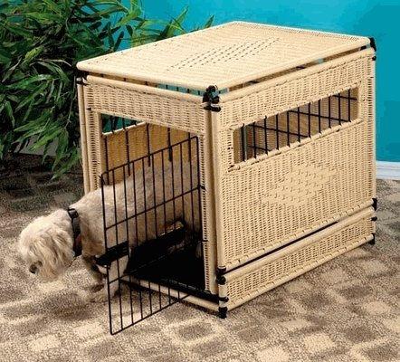 Wicker Finish (New Natural Finish Wicker Pet House)