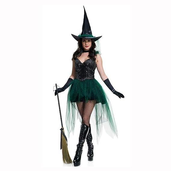 Yunfeng Halloween Bruja Disfraz para Mujer Juego de Halloween ...