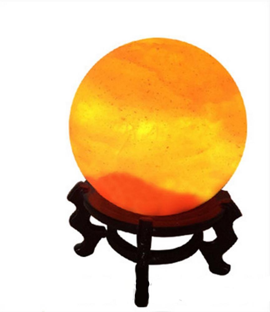 WGE Crystal Salt Lamp Himalayan Imported Rock Salt Mine Water Drop Decorative Table Lamp Gift Light YANJIN