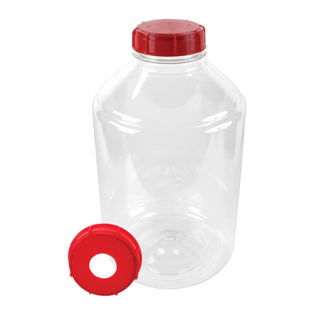 6 Gallon PET Carboy with 2 Caps, Stopper EPDM Seal