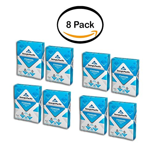 PACK OF 8 - Georgia-Pacific Standard Multipurpose Paper, 8.5'' x 11'', 20lb, 92 Brightness, 500 Sheets by Georgia Pacific Professional