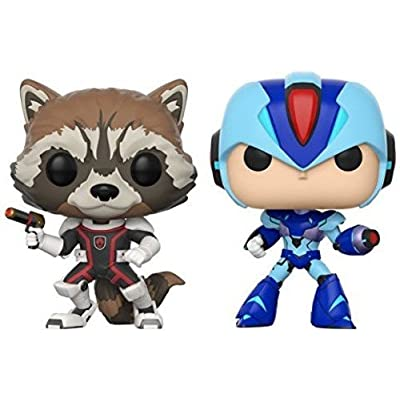 Funko POP! TV: Marvel Vs Capcom - Rocket Raccoon Vs Megaman Collectible Figure: Funko Pop! Games:: Toys & Games