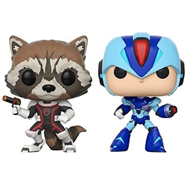 Pack: Pop! Marvel Vs. Capcom Infinite 2 - Rocket Vs. Mega Man X ...