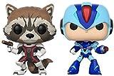 Funko Pop TV: Marvel Capcom-Rocket Raccoon Vs Megaman Collectible Figure