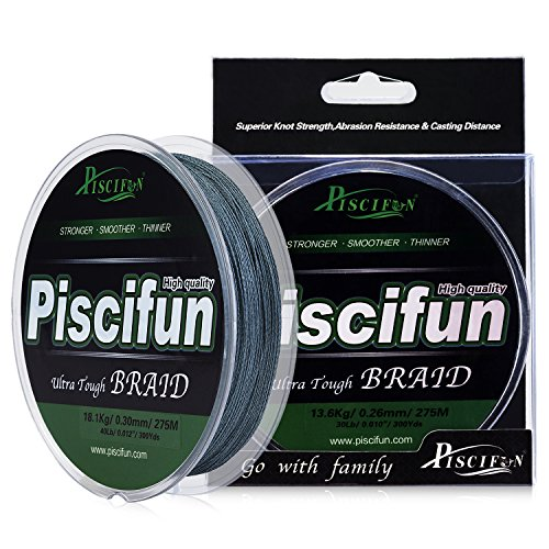 Bass Fishing Line Test - Piscifun PE Braided Fishing Line 150Yd Grey 50lb Test