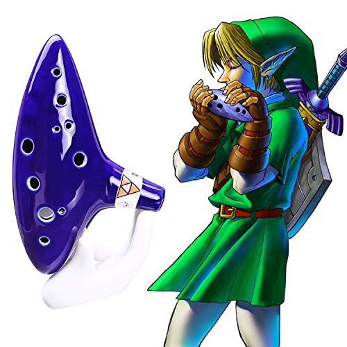 Ohuhu Ocarina from Legend of Zelda, 12 Hole Alto C Zelda Ocarinas Play by Link Triforce Gift for Zelda Fans with Textbook Display Stand Protective Bag