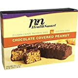HealthSmart - High Protein Diet Bars - Chocolate Covered Peanut - 15g Protein - Low Calorie - Low Fat - Gluten Free (7/Box)