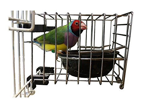 EZ-Feeder: Bird Cage Feeder With Catch Tray (Pack of 12) by M&M Cage Company