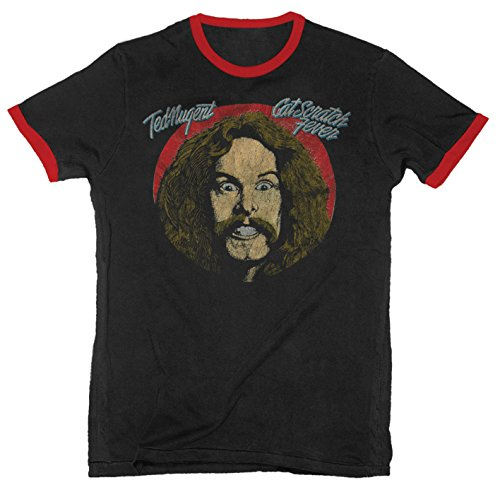 (Ted Nugent - Cat Scratch Fever - Adult Ringer Tee - Small)