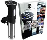 : Sous Vide Thermal Immersion Circulator: Cooker and Temperature Controller for Easy, Healthy & Even Cooking - BONUS 100 Recipe E-Cookbook - Black and Stainless, 120 Volts