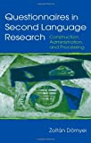 img - for Questionnaires in Second Language Research: Construction, Administration, and Processing (Second Language Acquisition Research Series) by Zolt?n D?rnyei (2002-08-03) book / textbook / text book