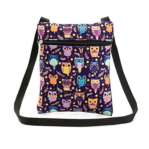 Party Woman Women's bag Bag Shoulder Bag Luoluoluo Printed Handbag Owl Postman B Handbag Rxqw1dRUY