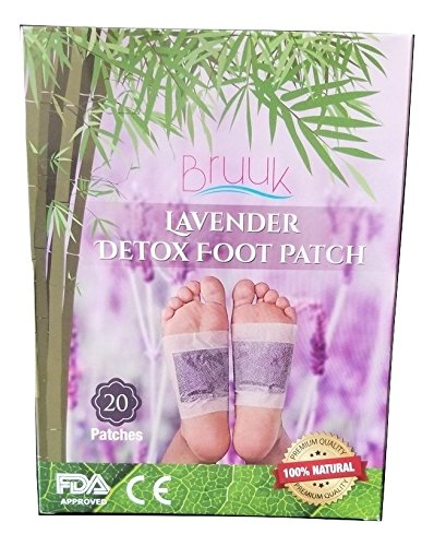 (Lavender Bamboo Foot Pads - FDA Certified - 100% Natural Plant Based Product -Stress and Pain Relief Removes Impurities Improves Sleep -Upgraded-)