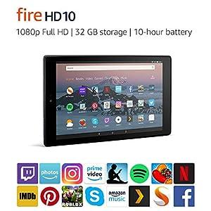 """Fire HD 10 Tablet   10.1"""" 1080p Full HD Display, 32 GB, Black"""
