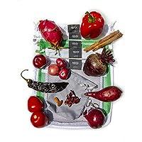 Bolsas ecológicas para frutas, verduras y semillas. / 6 piezas diferentes/Con doble jareta y costura de refuerzo. Incluye porta xabukas GRIS. / Bolsas reutilizables