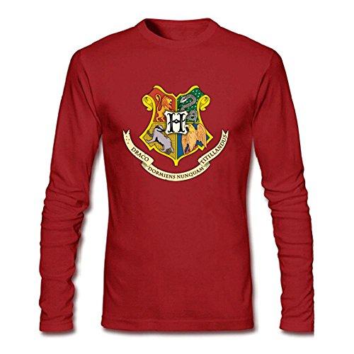 Men's Harry Potter Hogwarts Gold Foil Long Sleeve T-Shirt