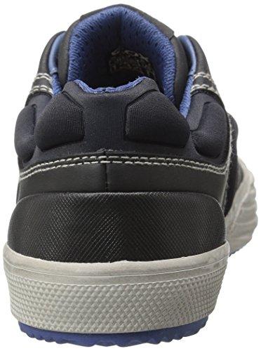 Geox J Alonisso Boy D, Zapatillas para Niños Schwarz (BLACK/BLUEC0052)