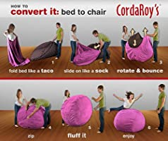 Strange Cordaroys Bean Bag Chair Corduroy Convertible Chair Folds From Bean Bag To Bed As Seen On Shark Tank Pink Full Size Andrewgaddart Wooden Chair Designs For Living Room Andrewgaddartcom