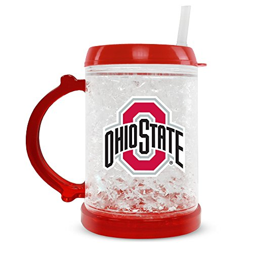 NCAA Ohio State Buckeyes 8oz Junior Crystal Freezer Mug with Lid and - State Ohio Crystal