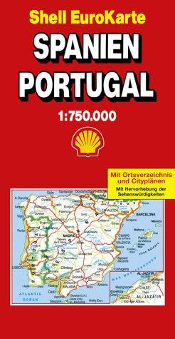 Shell EuroKarte, Spanien, Portugal (Série Internationale) Landkarte – 2000 unbekannt Mairdumont 3875045882 28941