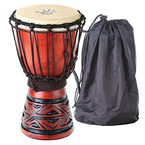 Amazon Lightning Deal 57% claimed: X8 Drums & Percussion Celtic Labyrinth Djembe Drum with Tote Bag Extra Small
