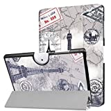 GBSELL Folding Stand Leather Print Case Cover For Acer Iconia One 10 B3-A40 10.1 (D)