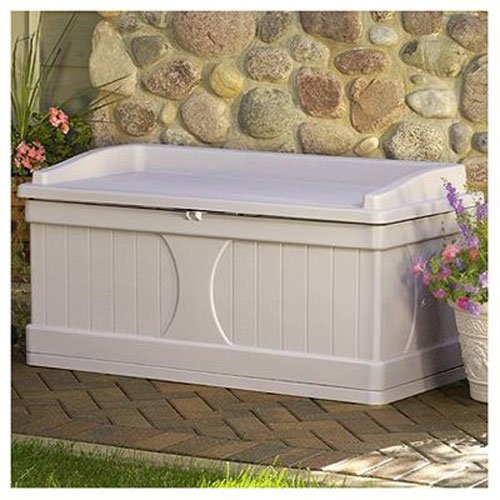 suncast outdoor storage bench - 3