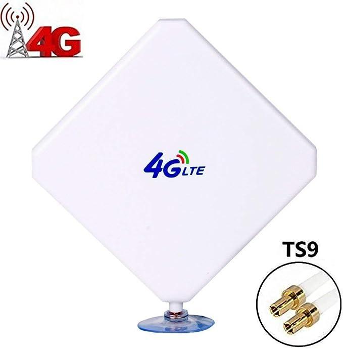 Aigital TS9 4G-Antena, 4G LTE Antena Dual MIMO 35dBi Alto Ganancia Red Ethernet Al Aire Libre Antena Receptor Amplificador Booster para WiFi Router ...