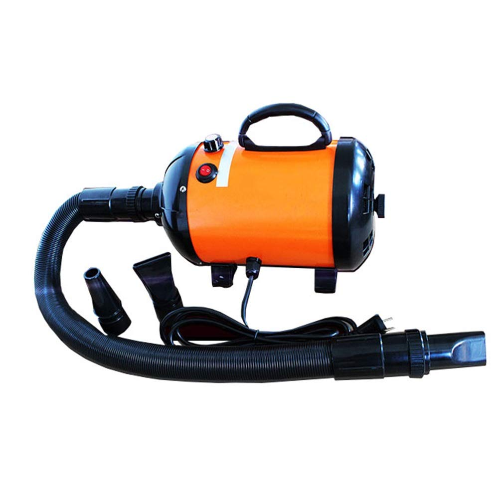 orange Dog Dryer, 2800W Pet Grooming Hairdryer Low Noise Stepless Speed Blower Heater for Small Medium Large Dogs (color   orange)