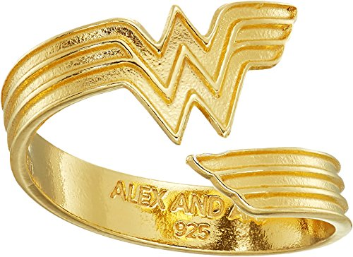 Alex and Ani Women's Wonder Woman Ring Wrap 14k Gold Plated One Size (Plated Justice Gold)