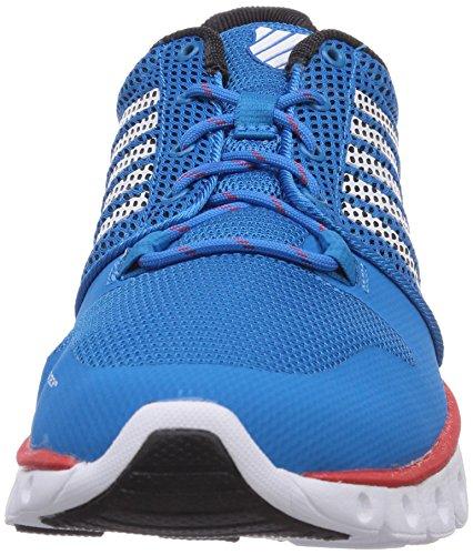 K-Swiss Men's X Lightweight Training Shoe, Blue/Black/Fiery Red, US