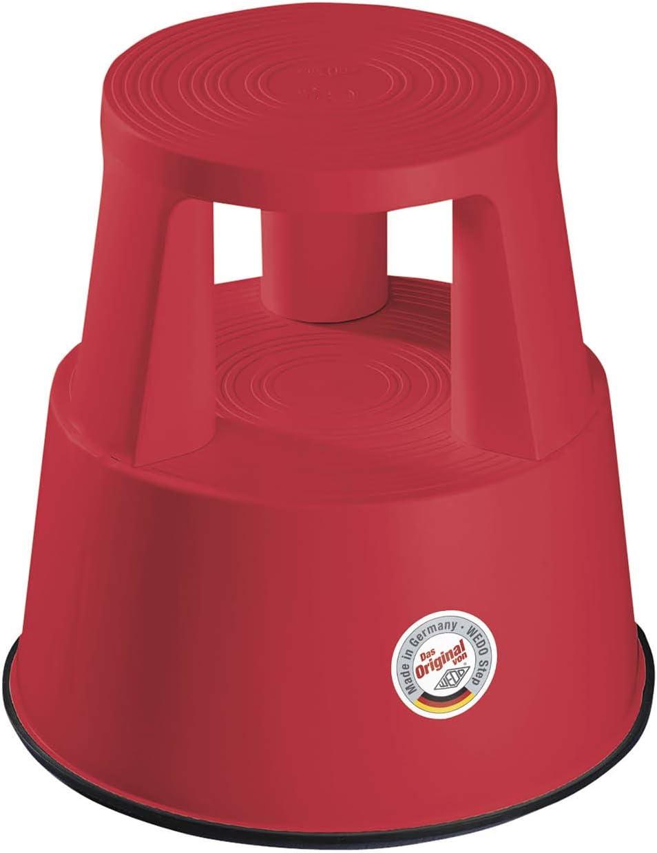 WEDO Step Tabouret /à roulettes en Plastique Rouge Fraise 44 cm