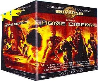 Coffret Home cinema 10 DVD: Hulk / 2 fast 2 furious / Van Helsing / Fast & Furious / Les Chroniques de Riddick / La Momie / Le Retour de la momie / Le Roi scorpion / Master and Commander / Gladiator