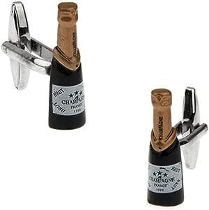 YYXXX Gemelos,Botella De Cerveza Salvaje Calidad Exquisita Moda Clásica Casual Personalidad Camisa Accesorios Negro: Amazon.es: Joyería