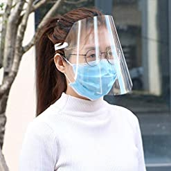 Uticon Protective Visor,Transparent Anti Droplet Dust-Proof Protect Full Face Covering Mask Visor Shield