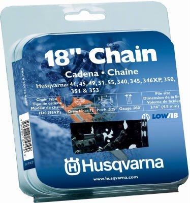 Husqvarna Forest & Garden 531300439 Chain Saw Chain, Narrow Kerf, 18-In. - Quantity 6