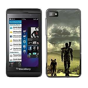 LECELL--Funda protectora / Cubierta / Piel For Blackberry Z10 -- Apocalíptico perro --