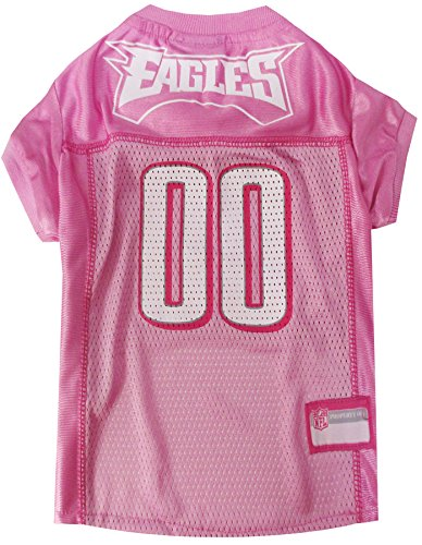 (Pets First NFL Philadelphia Eagles Jersey, Small, Pink)