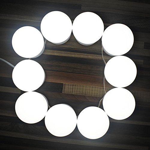Hollywood style led vanity mirror lights kit with dimmable light chende hollywood style led vanity mirror lights kit with dimmable light bulbs lighting fixture strip for makeup aloadofball Image collections