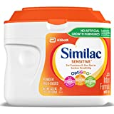 Similac Sensitive Infant Formula with Iron, Powder, 22.5 Ounces (Pack of 6)