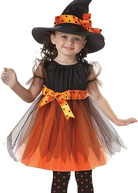 ZZM - Ropa de Halloween para bebés y niñas, disfraz tutú con lazos ...