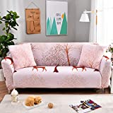 YHviking Stretch Sofa Cover,All Inclusive Universal Anti-Slip Sofa Towel,Pattern Sofa slipcover Soft Durable Machine Washable 1-Piece -A 75-91in