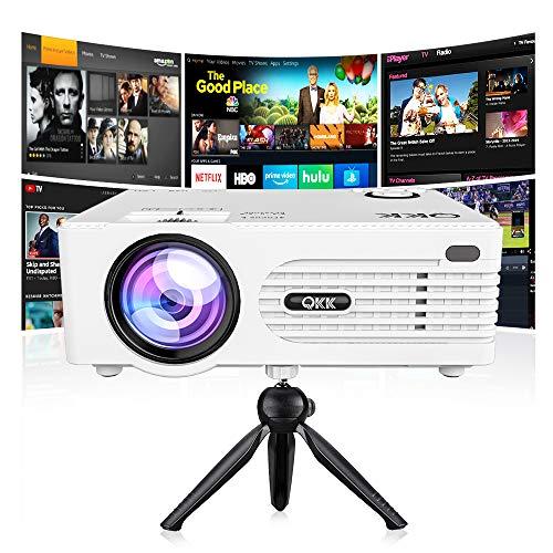 QKK [2019 Upgrade] Mini Projector [with...