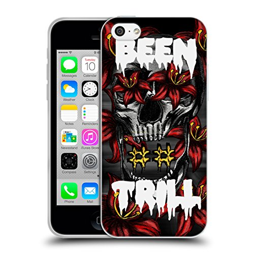 Official Been Trill Floral Skull Mixed Soft Gel Case for Apple iPhone 5c
