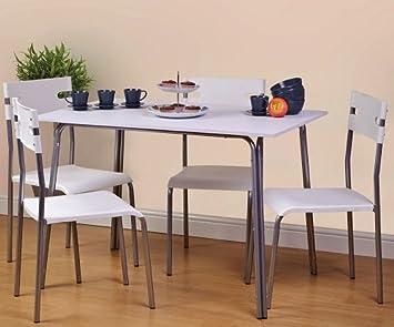 Neue Smart Esstisch Garnitur Mit Tisch Und 4 Stühle Eckregal
