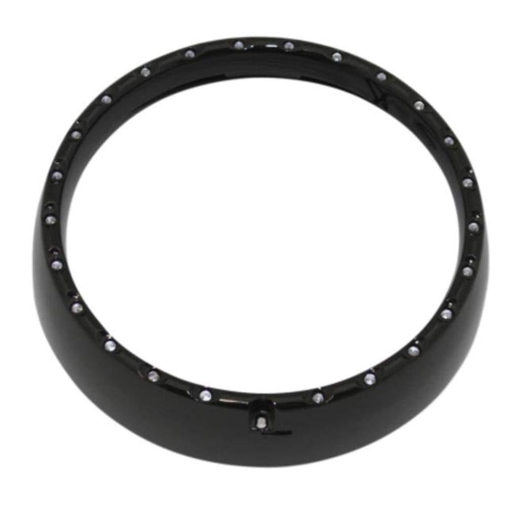 Gloss Black with Turn Signals for 1984-2013 Harley-Davidson FLH Touring Models Custom Dynamics CDTB-7TR-2B LED Halo Headlight Trim Ring