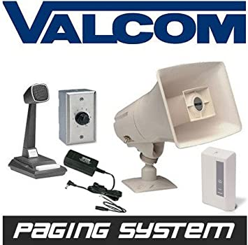 New Valcom Business Warehouse Industrial Paging Horn Speaker System on bogen paging systems, industrial paging systems, cisco phones systems,