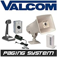 New Valcom Business Warehouse Industrial Paging Horn Speaker System Intercom
